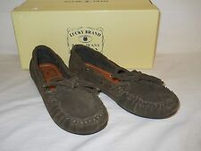 Lucky Brand New Womens Darcie Military Suede Moccasins 6 M Shoes NWB