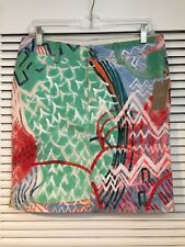Anthropologie NWT Handpainted Graffiti Print Denim The Seussly Skirt S 27 4 $148