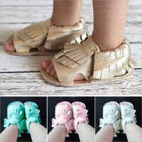 Baby Sandal Soft Sole Shoes Infant Boy Girl Toddler Moccasin Prewalker 0-18M