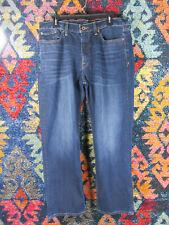 Lucky Brand mens dark distressed 363 vintage straight jeans 36x30 EUC