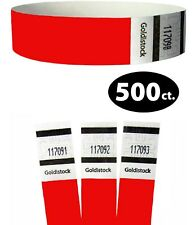 Paper Wristband Tyvek Armband Bracelet Red Waterproof Ink Secure Party