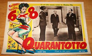 fotobusta film 6x8= QUARANTOTTO Nino Taranto Riccardo Freda 1951 musical