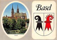 Switzerland Basel Der Rhein die Pfalz und das Munster Cathedral