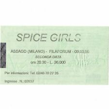 SPICE GIRLS Concert Ticket Stub MILANO ITALY 3/9/98 Forum di Assago SPICEWORLD