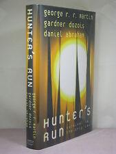 1st, signed by 3,Hunter's Run by George R R Martin,Gardner Dozois,Daniel Abraham