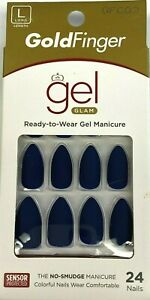 Kiss Gold Finger Gel Glam Ready-to Wear Manicure 24 Nails
