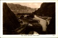 RPPC The Tanks General View Aden postcard antique Egyptian Cigarettes