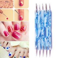 2PCS 2-Way Nail Art Paint Dot Draw Pen Brush for UV Gel Diy Decor Make up Tools