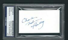 Charles Nelson Reilly signed card PSA Authenticated Actor Comedian Director RARE