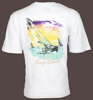 TOMMY BAHAMA Men T-Shirt SAILS TEAM Sailboat Boating WHITE Relax Camp XL-3XL $45