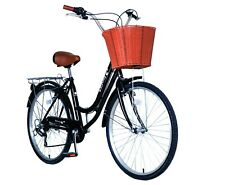 Spring 700c Ladies Girls City Dutch Shopper Bicycle Bikes 6 sps with Shimano gea