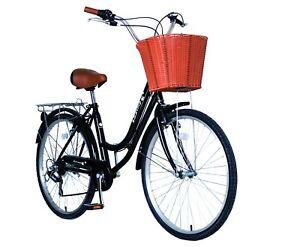 700c Ladies Girls City Dutch Shopper Bicycle Bikes 6 sps Shimano