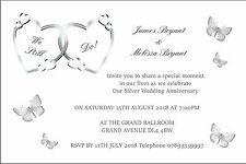 Wedding Blessing/Renewal of Vows Invitations - 25 Invitations Personalised