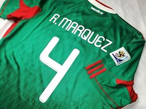 Jersey mexico Rafael Marquez 2010 adidas (S) Barcelona world cup green shirt