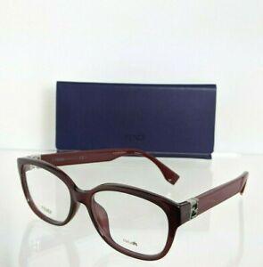Brand New Authentic Fendi FF 0068 Eyeglasses MKG Burgundy 52mm Frame 0068/F