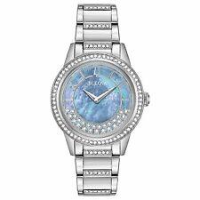 Bulova 96L260 para Mujer Estilo De Giro De Cristal Azul Cuarzo Reloj