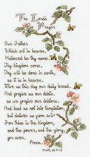 Cross Stitch Kit ~ Janlynn The Lord's Prayer Blossoms & Bees #021-1403
