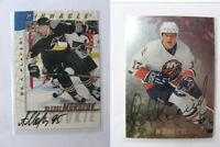 1997-98 BaP Signature Series #212 Morozov Alexei  autograph  penguins #3