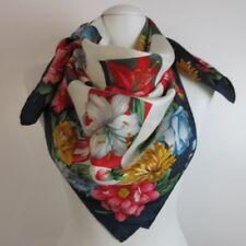 Beautiful Floral Design 100% Silk Scarf Square Vintage Scarvesilove 824s67