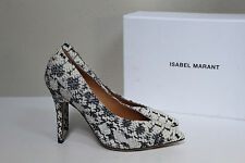 New ISABEL MARANT Prissy Snakeskin Point Toe Classic Pump Shoes sz 8.5 / 39