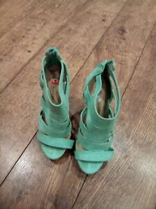 New Look Light Green Suede Gladiator Sandles Size 3