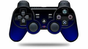 Skin for PS3 Controller Smooth Fades Blue Black CONTROLLER NOT INCLUDED