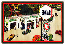 """Aged Looking Sinclair HC Motor Oil Sign 12""""x18"""""""