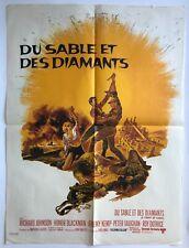 Affiche de cinéma de 1968, film DU SABLE ET DES DIAMANTS, R.Johnson, 60x80