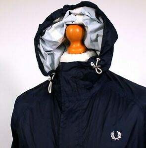 Fred Perry Navy Fishtail Ripstop Parka (S/M - Navy) 60's Mod Casuals Terraces