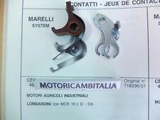 MARELLI LOMBARDINI MOTORE MCR 16 C D DA PUNTINE CONTATTI CONTACT POINT ENGINE