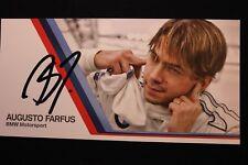 Card BMW Motorsport Team RBM DTM 2012 #16 Augusto Farfus (BRA) Signed