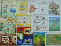 DINOSAURS (Prehistoric animals) 100 diff. sheets MNH Sale Lot FREE SHIP #SL10