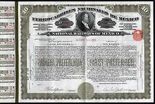 New listing 1921 Ferrocarriles Nacionales de Mexico - 2000 Gold Pesos, uncancelled & coupons