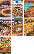 Pillsbury CASSEROLES & 1 DISH MEALS Recipe Cookbooks Lot of 7 Soups Stews