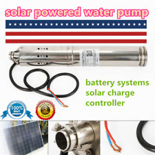 24v36v 520w Solar Powered Water Pump Submersible Bore Hole Deep Well Pump Usa