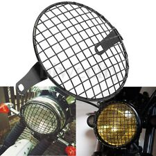 Retro Grill Motorcycle Side Mount Headlight Cover Lamp Mask For Honda Bobber CB