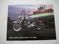 2000 HARLEY DAVIDSON ROAD KING CLASSIC FACTORY BROCHURE SPEC SHEET