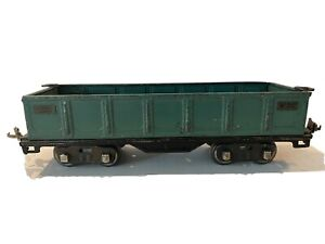 1927 LIONEL LINES PREWAR TRAINS -GREEN NO. 512 GONDOLA-STANDARD GAUGE MADE U.S.A