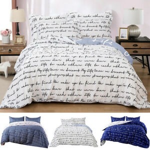 3 Pieces Duvet Cover Comforter Cover Printed Microfiber w/ Pillowcase Queen King
