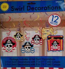 Pirate's Kids Birthday Party Hanging Swirl Decorations