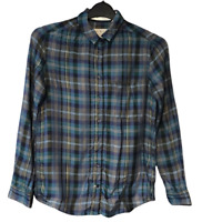 Jack Wills Women's Casual Shirt Blue Check Size 8 L/S
