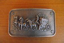 Gürtelschnalle Buckle für 4cm Gürtel mit Pferdekutsche