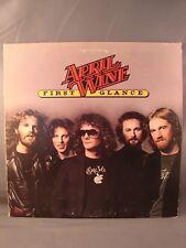APRIL WINE FIRST GLANCE 1978 USED LP VINYL CAPITOL/EMI SW-11852 SHOWS WEAR!