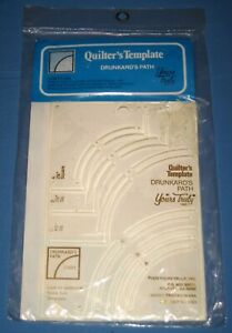 Vintage 1979 Quilter's Template Drunkards Plate Yours Truly NOS!