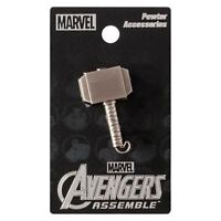 Thor New * Mjolnir Pewter Lapel Pin * Hammer Accessory Charm Pin Back Licensed