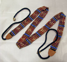 Damen Indianer Gürtel braun 80 cm aus Kunstknochen und Perlen