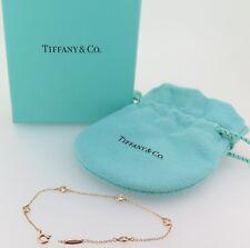 .Auth Tiffany & CO. Elsa Peretti 18K GOLD 5 Diamond by the yard G Vs bracelet