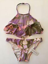 ZIMMERMANN Lotte Frill Halter Bikini Size 0 1 2 With Tag Regular 0