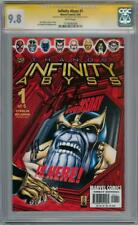 INFINITY ABYSS #1 CGC 9.8 SIGNATURE SERIES SIGNED STAN LEE STARLIN THANOS MOVIE