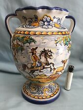 JARRÓN DE CERÁMICA (CABALLERO CAZA) A of Spanish Pottery VASE HORSE HUNTING *